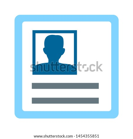 Identification Card icon. flat illustration of Identification Card. vector icon. Identification Card sign symbol