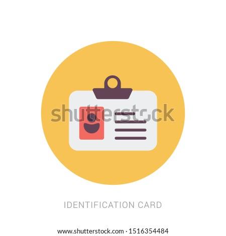Identification Card icon. flat illustration of Identification Card. Yellow theme concept