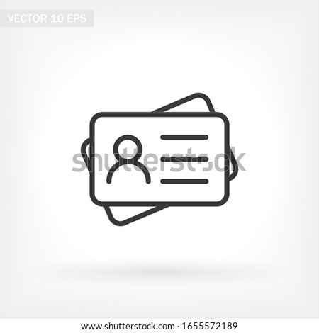 Identification card outline icon isolated on background. Identification card , Identification card logo,. Editable stroke. Vector illustration. Eps 10 Identification card Stockfoto ©