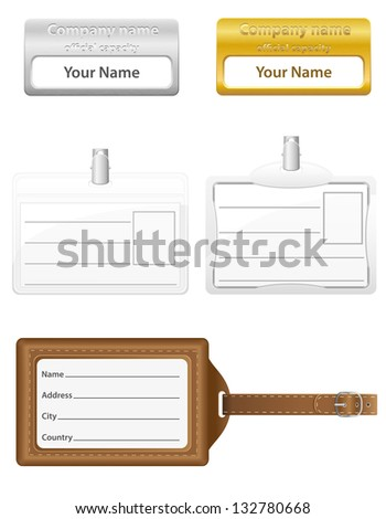 identification card set icons vector illustration isolated on white background