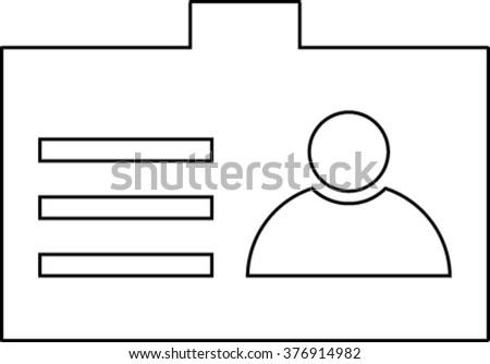 Identification card  - vector icon