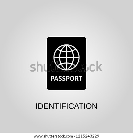 Identification icon. Identification symbol. Flat design. Stock - Vector illustration