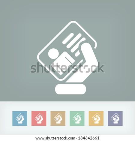Identity card icon Stock photo ©
