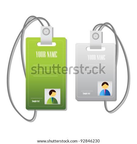 identity cards - stock vector