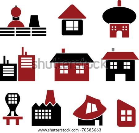 identity houses. vector