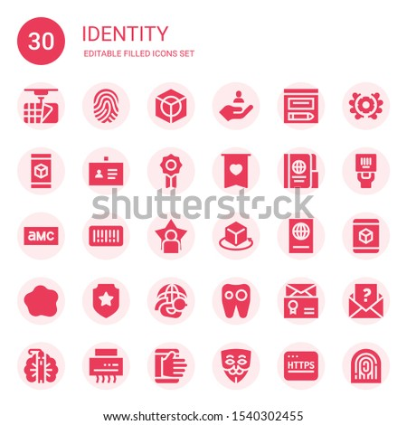 identity icon set collection