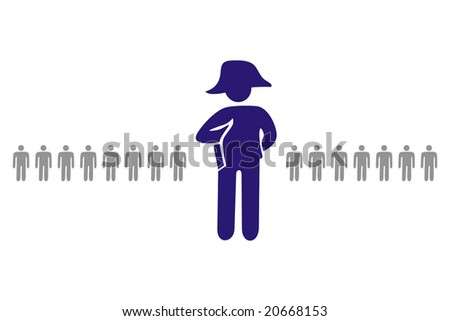 ideogram of character representing top manager or leader