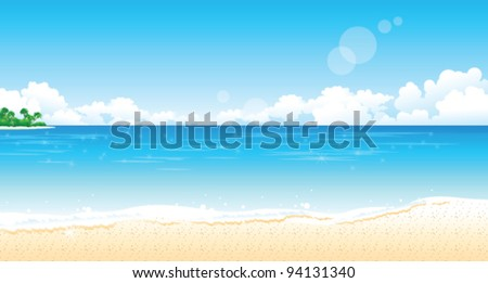Idyllic Beach - stock vector