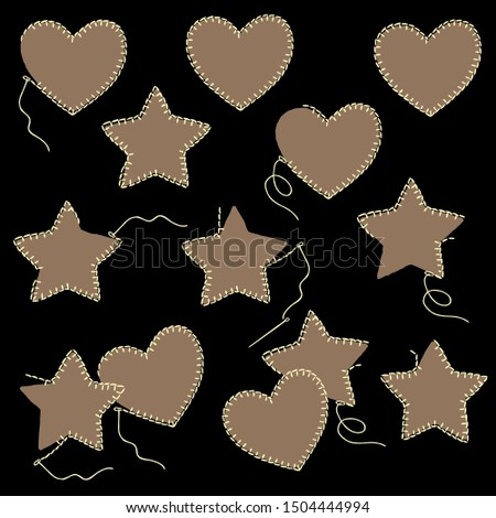 If heart-shaped; a star-shaped pleasant illustration,