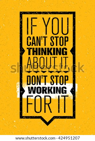 if you can't stop thinking