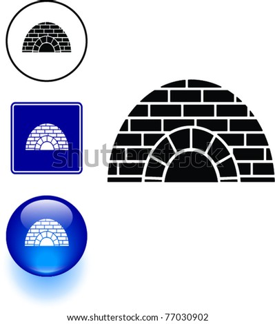 igloo symbol sign and button