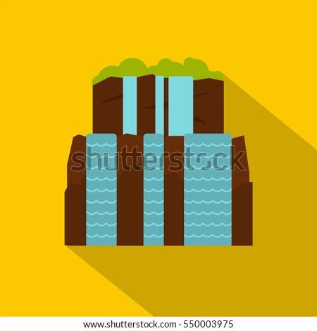 iguassu falls icon flat