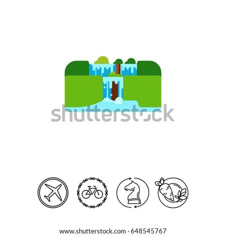 iguassu falls vector icon