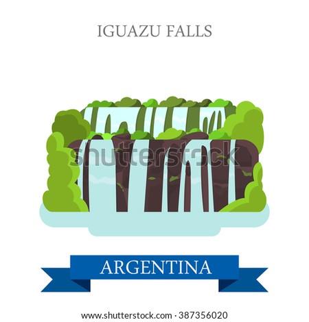 iguazu falls in argentina flat