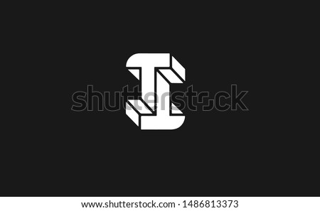 ii  3d letter logo design with