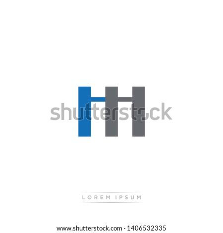 ii   hi logo letter with modern