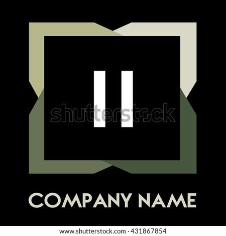 ii letters business logo
