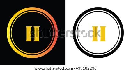ii letters icon design template