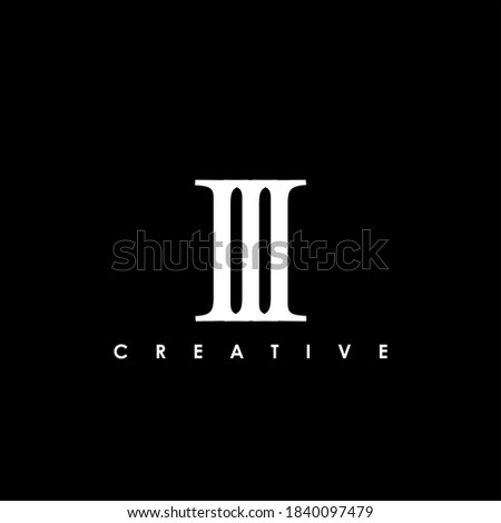 iii letter initial logo design