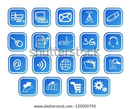 Iinternet and web icons