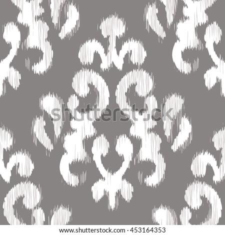 ikat damask pattern seamless