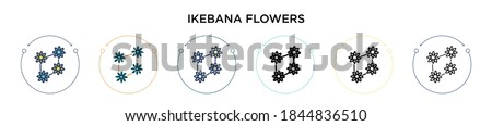 ikebana flowers icon in filled