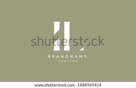 IL Alphabet initial Letter Monogram Icon Logo vector illustration Foto d'archivio ©