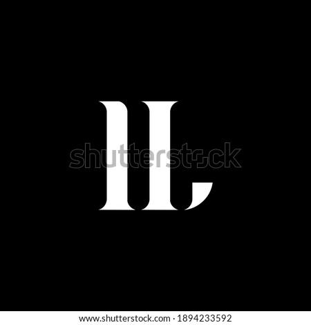 IL I L letter logo design. Initial letter IL uppercase monogram logo white color. IL logo, I L design. IL, I L Foto d'archivio ©