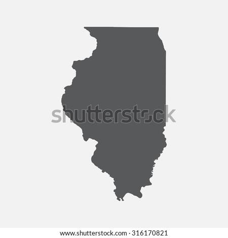 illinois state border map