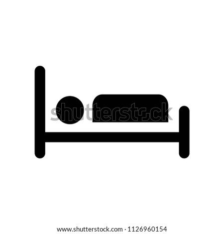 Illness on bed icon vector icon. Simple element illustration. Illness on bed symbol design. Can be used for web and mobile.