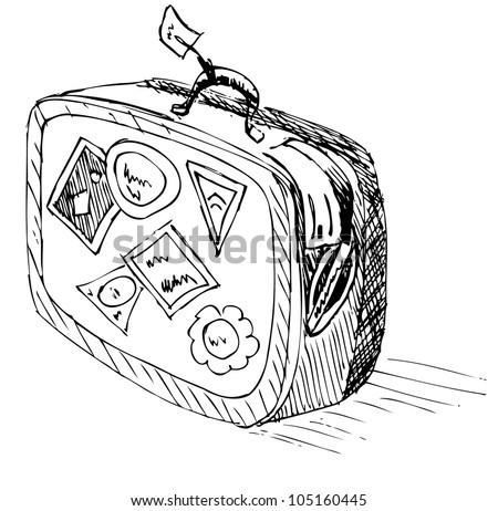 Illstratsiya of travel - a suitcase - stock vector