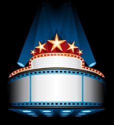 Illuminated cinema marquee