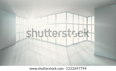 illuminated office room with