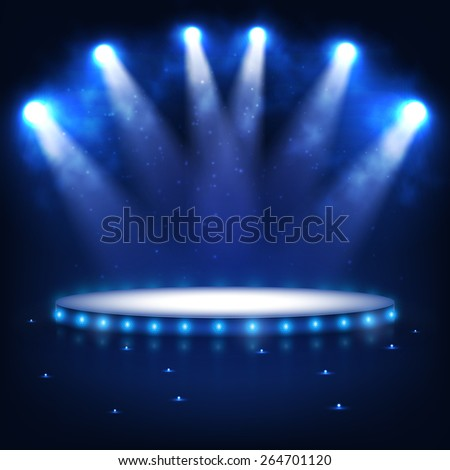 illuminated podium for