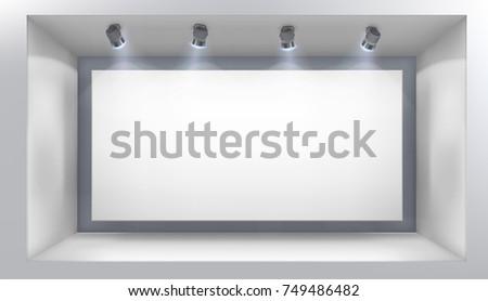 illuminated shop window vector