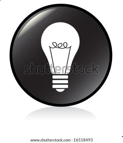 illuminated sign - BLACK version - bulb symbol