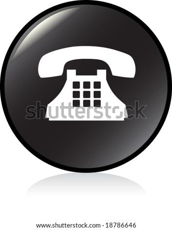 illuminated sign - BLACK version - old phone symbol
