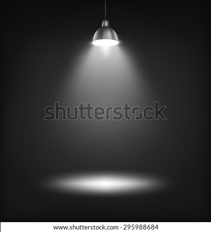 illuminated stage lamp with