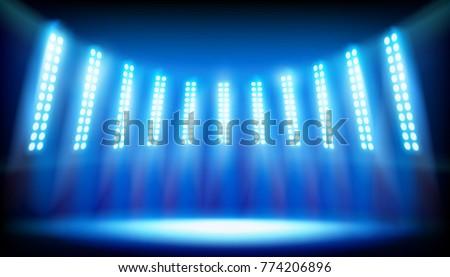 illuminated stage on the