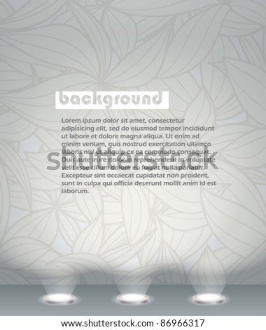 Illuminated wall template. Ready for your text