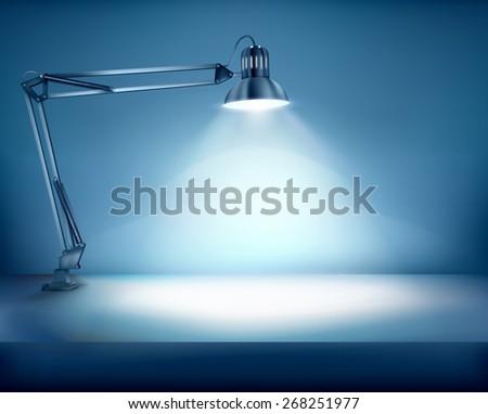 illuminated work place vector