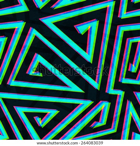illusion maze seamless pattern