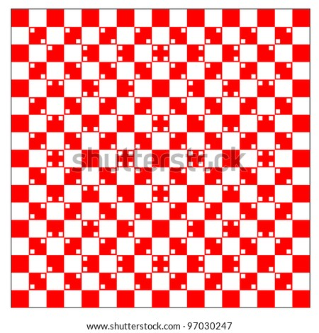 illusion of volume in red and white squares. Rasterized version also available in portfolio.