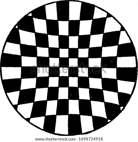 Illusion, Von Recklinghausen's Illusion is a thing that is or is likely to be wrongly perceived, it makes parallel lines seem to diverge by placing them on a zigzag, vintage line drawing or engraving