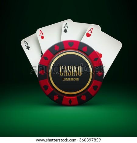 illustartion of casino chip