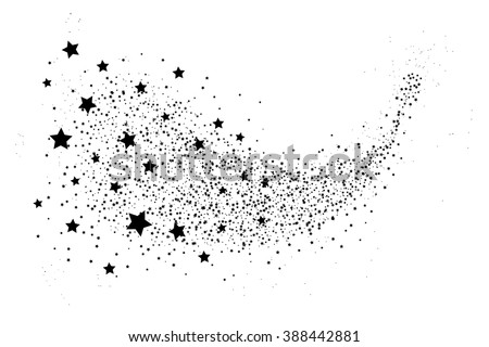illustartion of glittering star