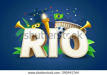 illustartion of rio 2016 games
