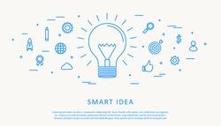 Illustartion of smart idea concept