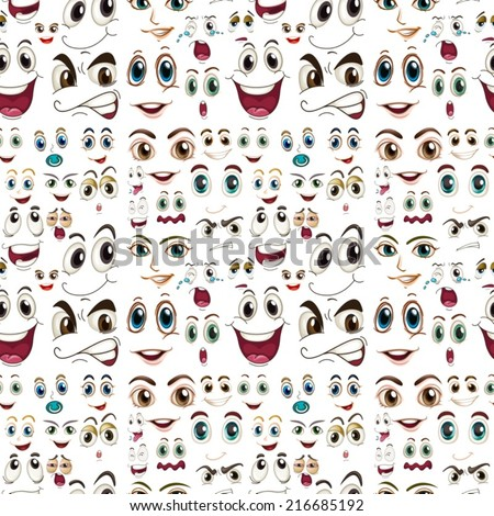 stock-vector-illustraion-of-a-seamless-facial-expressions
