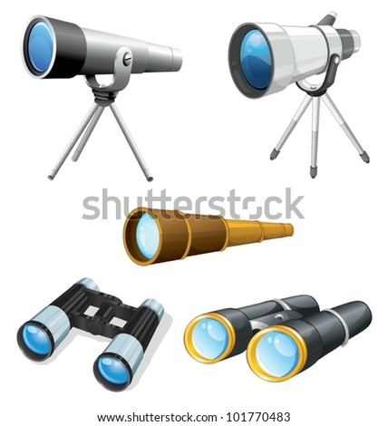 illustraiton of telescopes and